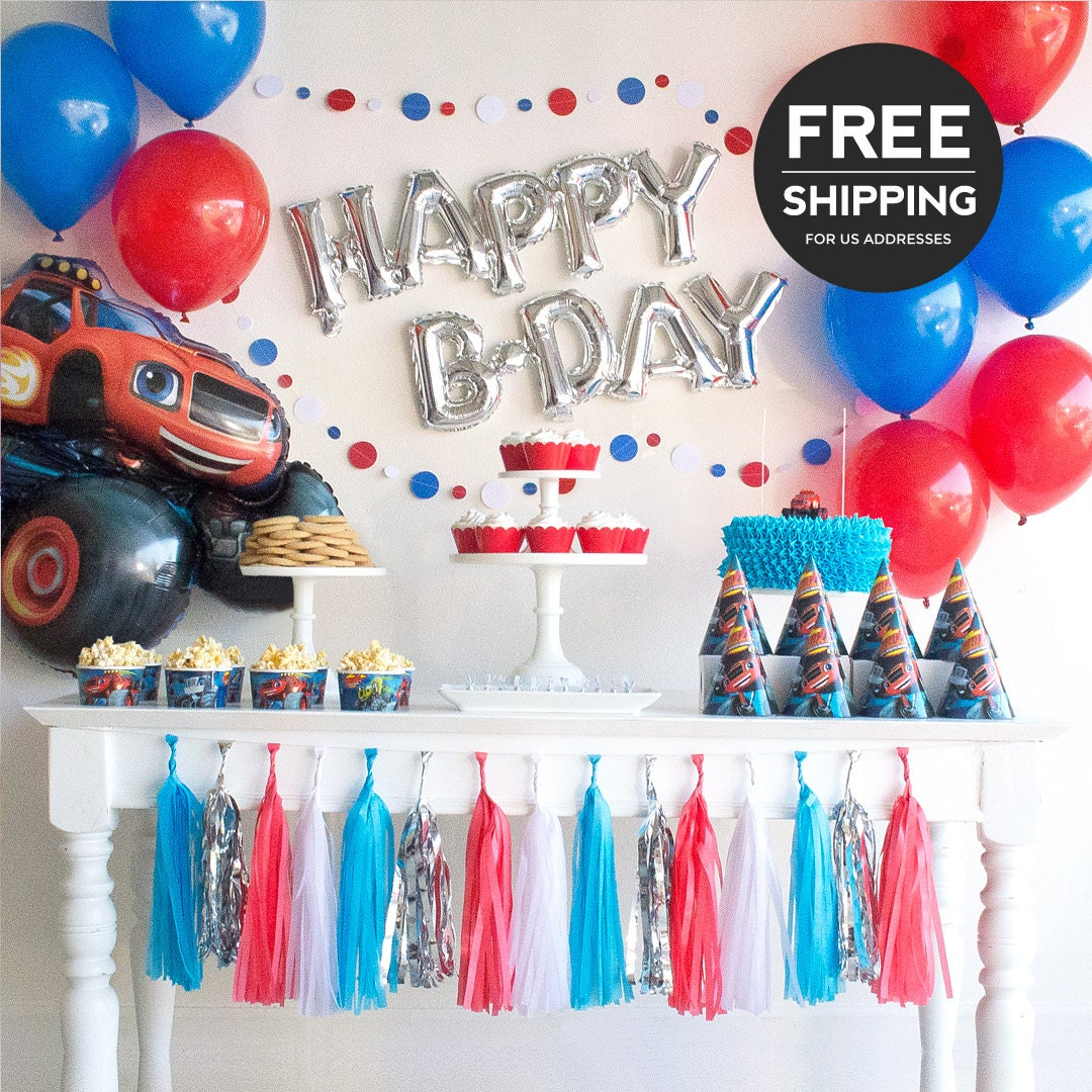 Blaze and the monster machines party supplies and decoration for Balloon decoration machine