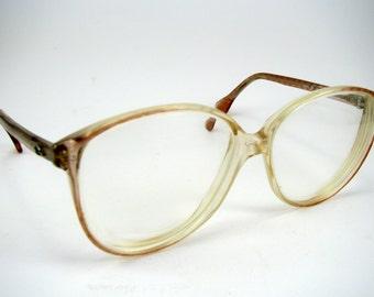 Swedish Vintage Skaga 749 Eye Glasses Womens Retro Eyewear Optical Pink Plastic Oversized Frame Made in Sweden 135