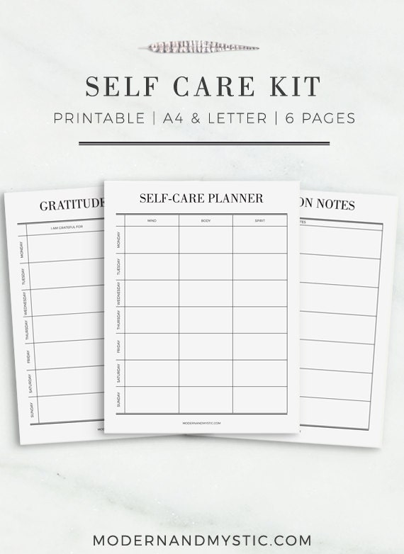 Massif image throughout self care printable