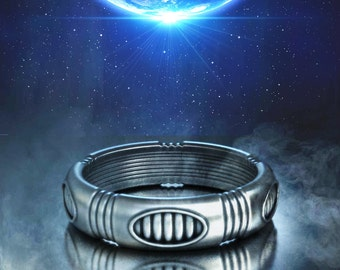 Geek wedding ring geek engagement ring star wars ring Sci