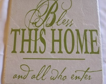 Wedding Tile - Front Porch Decor - Fireplace Decor - New Homeowner Gifts - Realtor Gift