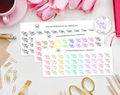 Sleep Day Planner Stickers perfect for Erin Condren, Kikki K, Filofax, Happy Planner, Project Life, Schedule and more! Lazy Day, Lie In