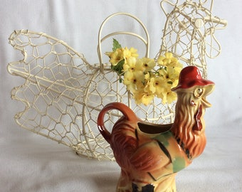 RARE vintage Regal China 1949 rooster creamer Old MacDonalds Farm collection novelty figurine small pitcher