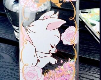 Marie Cat Holographic Liquid Glitter Iphone 7 / 6 / 6s Plus Clear Case
