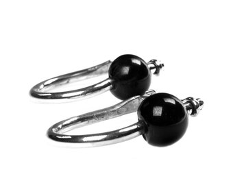 Earring for men-Sterling Silver and Onyx 456-457