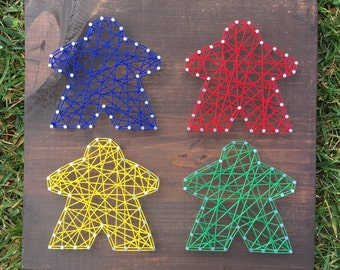 Meeple String Art *Made-to-Order*