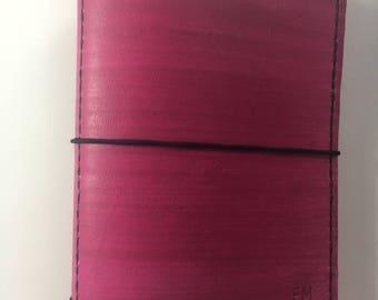 Hot Pink/Fuchsia Handmade Traveler's Notebook Cover/planner, Pocket, Personal, Regular, A6, B6, A5, Bullet Journal