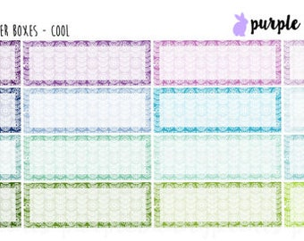 Blooming Flower Quarter Boxes // Planner Stickers!