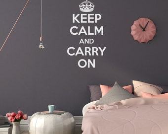Keep Calm & Carry On Wall Decal