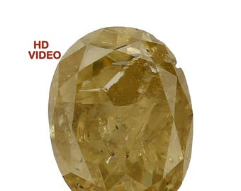0.29 Ct Natural Loose Diamond Cut Oval Shape Fancy Intense Yellow Color 4.60X3.45X2.15 MM N2795
