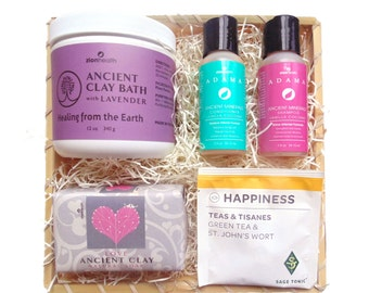 Happiness Spa Kit - Pure Joy.   Soothe your senses.  Feel like a goddess.  Unique Gift for friend, coworker, women.