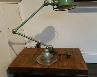 Lovely 1950s Jielde two arm desk lamp: rewired