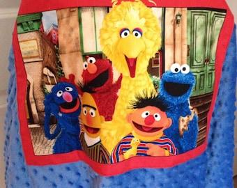 Sesame Street Blanket Toddler Blanket Cookie Monster Cotton Blanket