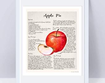 Apple Pie Recipe Etsy
