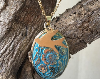 New Beginnings Bird Locket