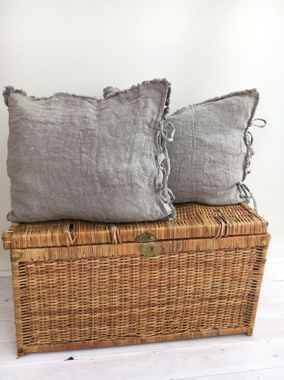 Burlap Pillow Covers Farmhouse Shams Throw Pillow Covers 18