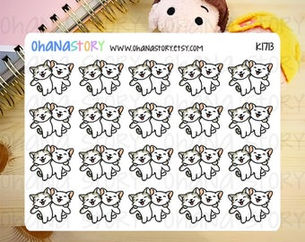 Marie the Kitty FRIENDS Planner Stickers (K1713)