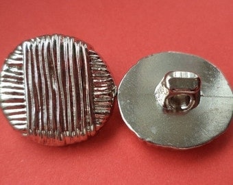 12 small buttons silver 15mm (3675) button