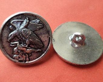23 mm (2806) metal buttons 5 metal buttons silver