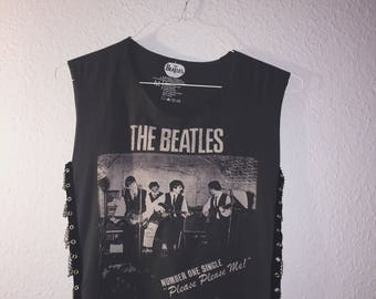 Chained Up Sides Grey Beatles Band Top
