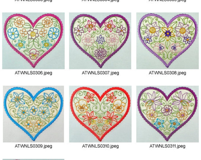 Applique-Hearts-with-Flowers. ( 10 Machine Embroidery Designs from ATW )