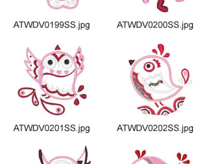 My-Birdie-Applique ( 10 Machine Embroidery Designs from ATW ) XYZ17E