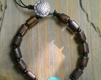 Bracelet beads Turquoise Turquoise. Brown