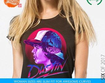 Womens: Dustin T Shirt / Stranger Things Dustin / 80's Style / Strange Designs / Dustin Henderson / Sci-Fi Tee