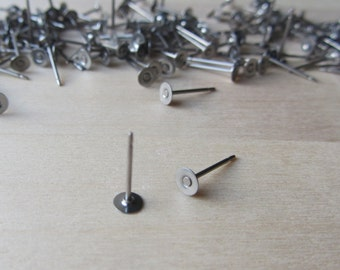 Titanium 4 mm Posts, Hypoallergenic Grade 1 Titanium Earring Findings, Nickel Free Earring Components, Metal Sensitivity Supplies