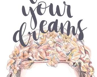 Coure dreams A4 print