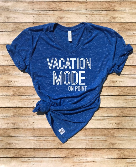 Unisex V Neck Tri Blend T Shirt Vacation Mode Vacation T