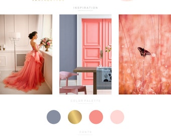Branding Kit, Branding Package, Premade Logo, Watercolor Logo, Gold Logo, Calligpaphy Logo, Photography Logo, Wedding Logo, Logo Design