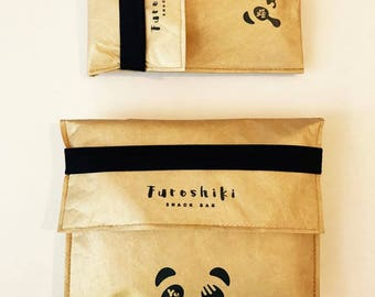 FUROSHIKI Insulated Snack & Sandwich Bags / YuMe YSB-1 / Tyvek / Food Storage/ reusable bags