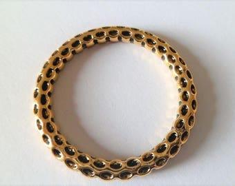 Large antique gold round antique rings