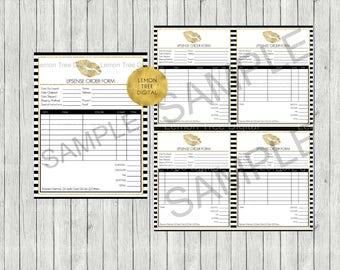 LipSense Rrder Form|SeneGence Order Form|Gold|Black|White|Stripes|Gold Lips|LipSense Printables|LipSense Form|SeneGence LipSense Distributor