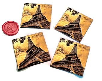Paris coasters made it with love