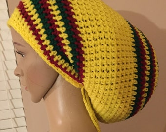 XL rasta hat yellow red green