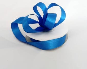 Cobalt Blue Double Sided Satin Ribbon 15mm wedding decorations sewing scrapbooks, florist ribbon
