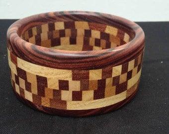 Handmade wooden bracelet - made the old-fashioned German way - maple, mahogany, wenge, oak
