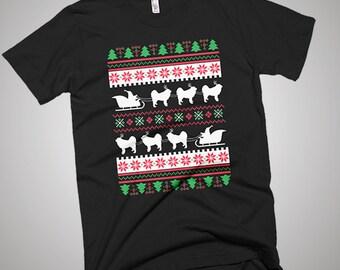 Tibetan Mastiff Santa's Reindeer Christmas Ugly T-Shirt