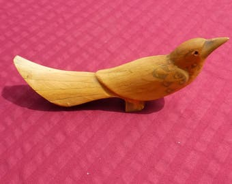 Vintage Carved Horn Bird Home Decor Collectible Hand Crafted  Hand carved