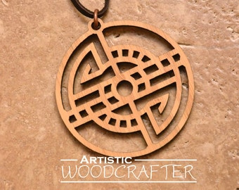Geometric Wooden Necklace (Bamboo)