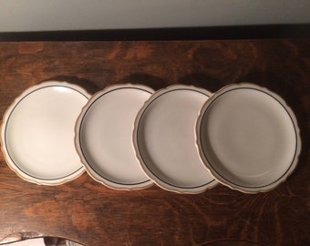 Vintage Syracuse Restaurant Ware - Set of FOUR Dinner Plates