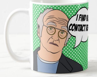 Larry David, Curb Your Enthusiasm, Inspired Coffee Mug Gift, Father's Day Gift, HBO TV Pop Art Culture