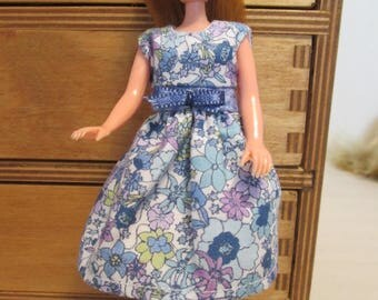 "Pippa dress * 6.5"" doll clothes * Handmade in England"