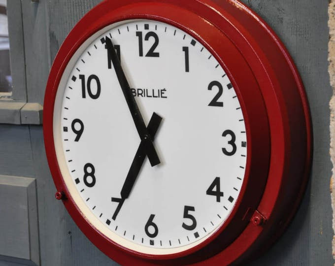 French Industrial wall clock by BRILLIE