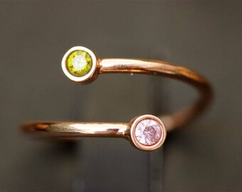 Gold Birthstone Ring, Birthstone Ring for Couples, Silver Ring, His And Her Ring, Couples Ring, Personalized Ring, Rose Gold Ring, Gold Ring