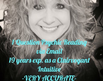 SAME DAY!!! - Clairvoyant Intuitive 1 Question Email Reading  - Extremely Accurate!!!