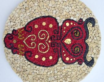 Mosaic Owl, Mosaic Art, Wall hanging, Smalti mosaic, Handmade item, Home Decoration, Gift Idea