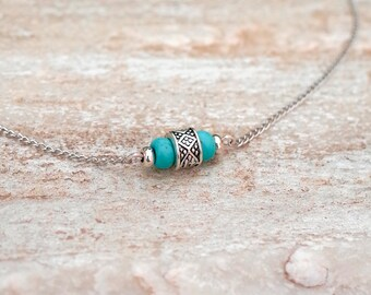 Necklace. Choker. Silver necklace. Turquoise necklace. American indian motifs. Choker. Necklace with turquoise. Silver necklace.